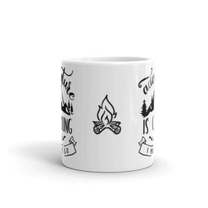 Adventure is Calling 11oz coffee and tea mug front