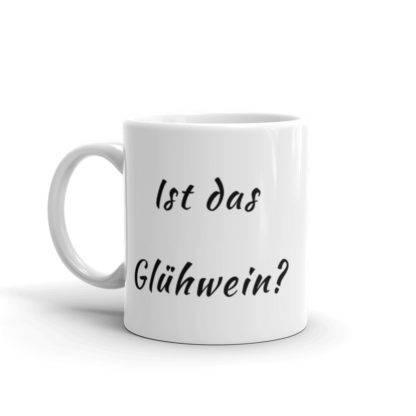 Is this Gluhwein 11oz coffee and tea mug handle left